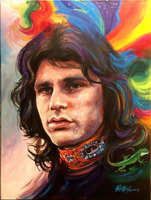 Painting - Jim Morrison by Robert Korhonen