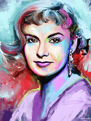 Modern Sophistication Line Drawings Royalty Free Images - Joanne Woodward Royalty-Free Image by Stars on Art