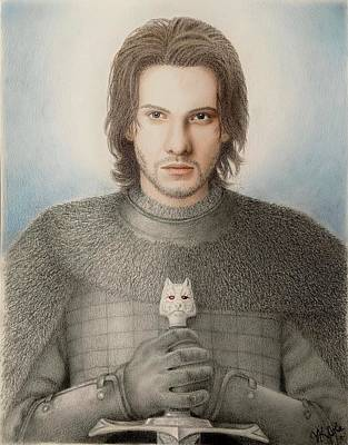 Drawing - Jon Snow by Vanessa Cole