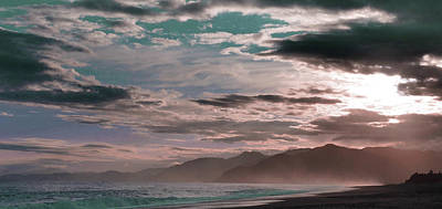 Surrealism Royalty Free Images - Kaikoura , a coastal town on the South Island of New Zealand. - Surreal Art by Ahmet Asar Royalty-Free Image by Celestial Images