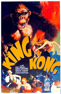 Mixed Media Royalty Free Images - King Kong movie poster 1933 Royalty-Free Image by Stars on Art