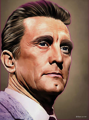 Royalty-Free and Rights-Managed Images - Kirk Douglas illustration by Stars on Art
