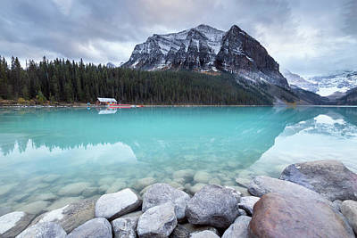 Photograph - Lake Louise Afternoon Clouds by Jennifer Grover