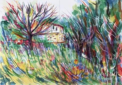 Painting - Le Liouquet France by Glen Neff
