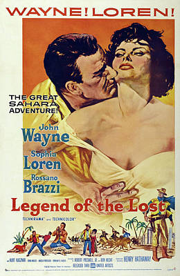 Personalized Name License Plates - Legend of the Lost, with John Wayne and Sophia Loren, 1957 by Stars on Art