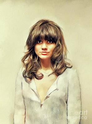 Recently Sold - Musicians Royalty Free Images - Linda Ronstadt, Music Legend Royalty-Free Image by Esoterica Art Agency
