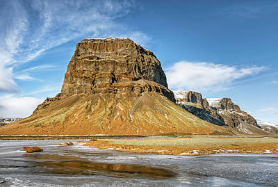 Vermeer Rights Managed Images - Lomagnupur Mountain Iceland II Royalty-Free Image by Joan Carroll