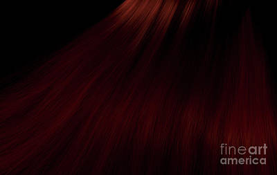 Music Figurative Potraits - Long Red Hair by Allan Swart