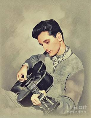 Music Paintings - Lonnie Donegan, Music Legend by John Springfield