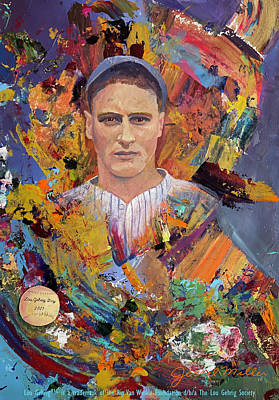 Painting - Lou Gehrig Day by Jessel Miller