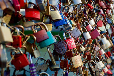 Granger - Love locks, Makartsteg Bridge over the Salzach River, Salzburg, Austria by Joe Vella