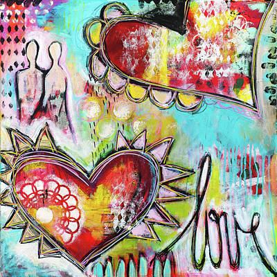 Mixed Media - Love by Stanka Vukelic