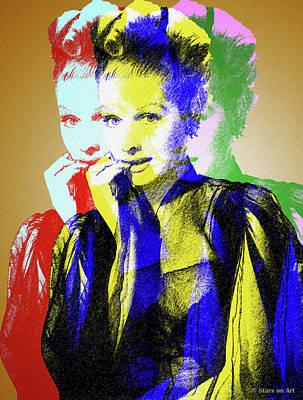 Digital Art - Lucille Ball by Stars on Art