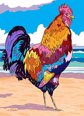 Shark Art - Magnificent Rooster by John Clark