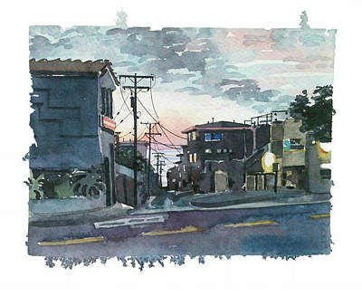 From The Kitchen - Manhattan Beach Street by Luisa Millicent