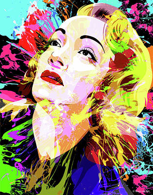 Stone Cold - Marlene Dietrich by Stars on Art