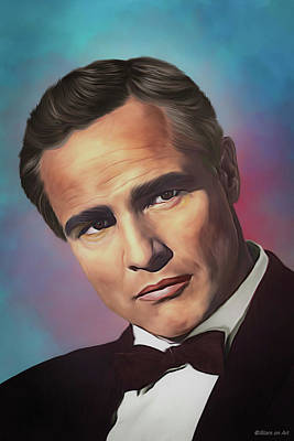 Royalty-Free and Rights-Managed Images - Marlon Brando illustration by Stars on Art