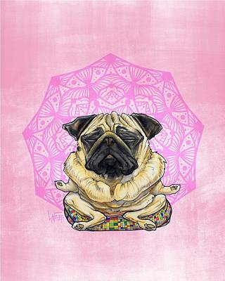 Royalty-Free and Rights-Managed Images - Meditating Pug by Canine Caricatures Custom Merchandise