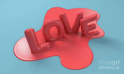 Surrealism Royalty Free Images - Melting Love Letters Concept Royalty-Free Image by Allan Swart