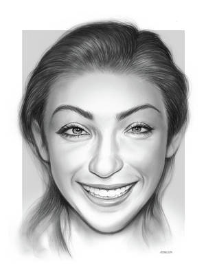 Drawings Rights Managed Images - Meryl Davis Royalty-Free Image by Greg Joens