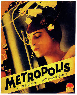 Mixed Media Royalty Free Images - Metropolis movie poster 1927 Royalty-Free Image by Stars on Art