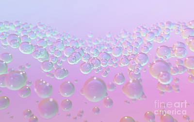 Royalty-Free and Rights-Managed Images - Molecules Under Surface Gather by Allan Swart