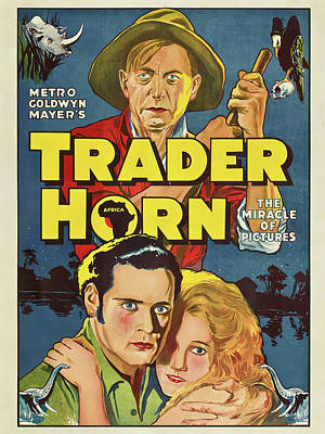 Caravaggio - Movie poster for Trader Horn, 1931 by Stars on Art