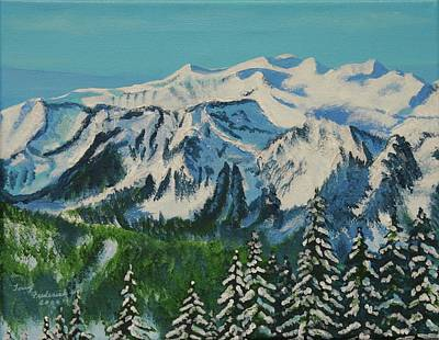 Painting - Mt Daniel by Terry Frederick