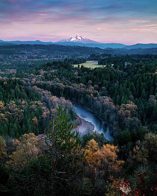 Photograph - Mt Hood in the Evening by George Shubin