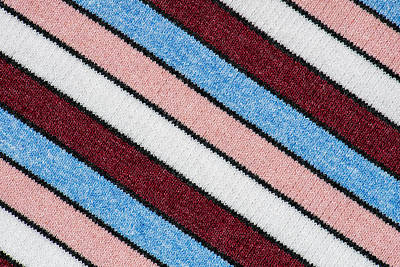 Royalty-Free and Rights-Managed Images - Multicolored striped wool fabric texture closeup photo background.  by Julien