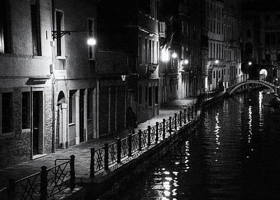 Photograph - Night in Venice by Frank Andree