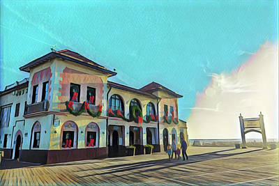Surrealism Royalty-Free and Rights-Managed Images - Ocean City Music Pier at Christmas Time by Surreal Jersey Shore