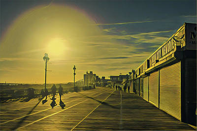 Surrealism Royalty-Free and Rights-Managed Images - Ocean City NJ Boardwalk in Winter by Surreal Jersey Shore