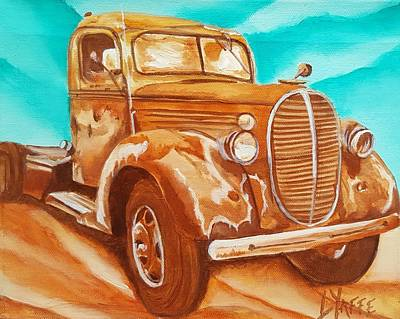 Lovely Lavender - Old Truck by Loraine Yaffe