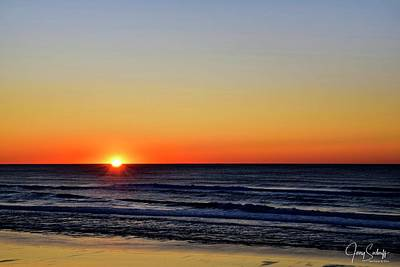 Jerry Sodorff Royalty-Free and Rights-Managed Images - Oregon Coast Sunset by Jerry Sodorff
