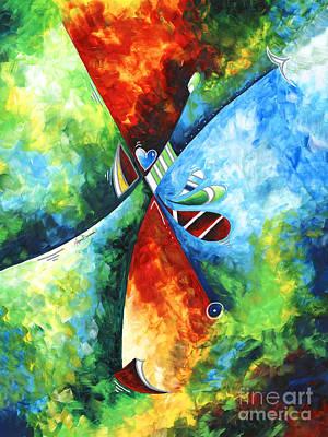 Painting - Original Abstract Art Contemporary Fine Art Print Modern Painting Megan Duncanson by Megan Duncanson