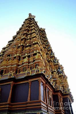 Classical Masterpiece Still Life Paintings - Ornate gopuram pagoda tower with sculpture gods at Nallur Kandaswamy Kovil  Hindu temple Jaffna Sri  by Imran Ahmed