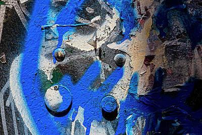Water Droplets Sharon Johnstone - Painted Metal - Detail of Graffiti by Robert Ullmann