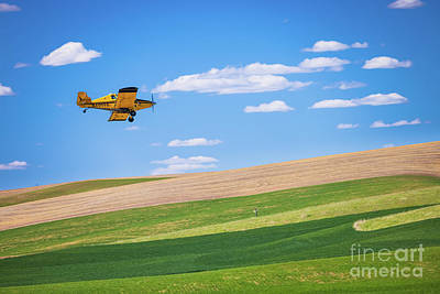 Royalty-Free and Rights-Managed Images - Palouse Plane by Inge Johnsson