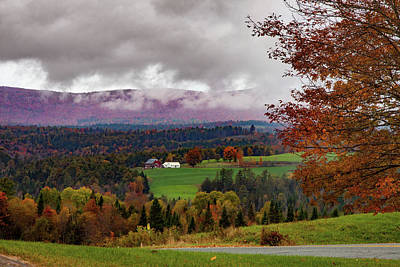 Space Photographs Of The Universe - Penny Lane Vermont fall colors by Jeff Folger