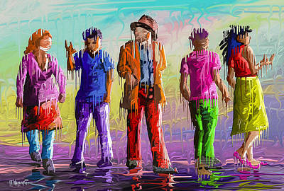 Popstar And Musician Paintings - People by Anthony Mwangi