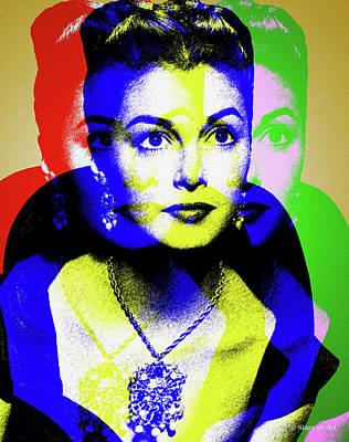 Digital Art - Pier Angeli by Stars on Art