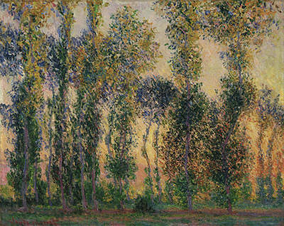 Watercolor Alphabet - Poplars at Giverny by Celestial Images