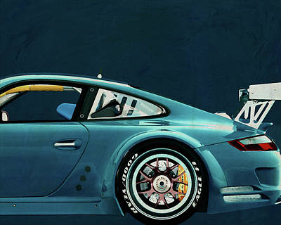 Painting - Porsche Gt3 Rs Cup 2008 by Jan Keteleer