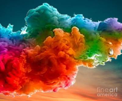 Colorful People Abstract Royalty Free Images - Rainbow Clouds Royalty-Free Image by Belinda Threeths