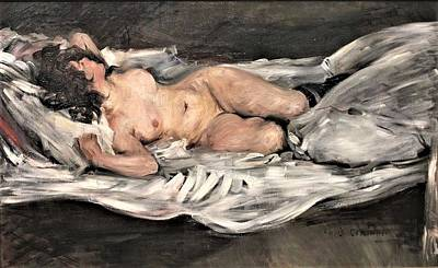 The Champagne Collection - Reclining nude by Roberto Prusso - Reproduction