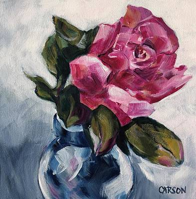 Painting - Pink Rose by Susan Carson