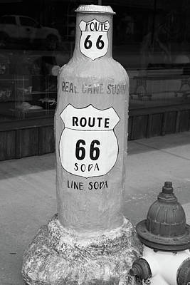 Firefighter Patents Royalty Free Images - Route 66 Lime Soda Pop statue Royalty-Free Image by Eldon McGraw