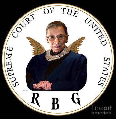 Vermeer Rights Managed Images - Ruth Bader Ginsburg - RBG Royalty-Free Image by Rafael Salazar