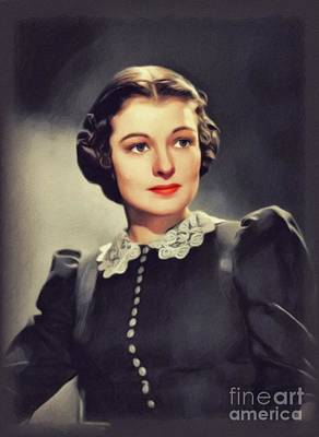 Up Up And Away - Ruth Hussey, Vintage Actress by John Springfield